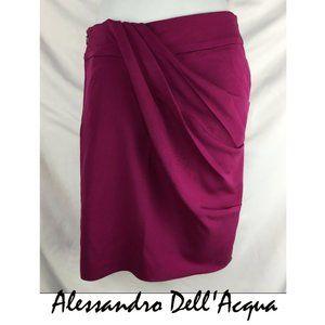Alessandro Dell'Acqua Pink Draped Skirt Size 40